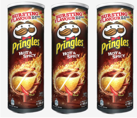 Pringles Gusto Hot e Spicy - 3 x 165 g