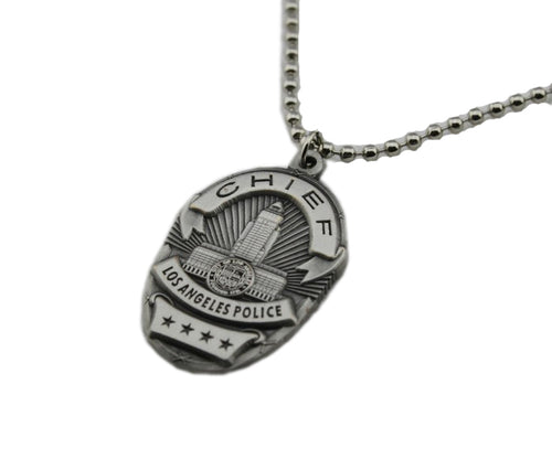 LAPD Los Angeles Chief Mini Police Badge Necklace Pendant