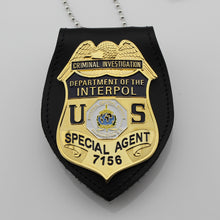 Load image into Gallery viewer, US Department Of Interpol Criminal Investigation Special Agent Badge Replica Movie Props No.7156