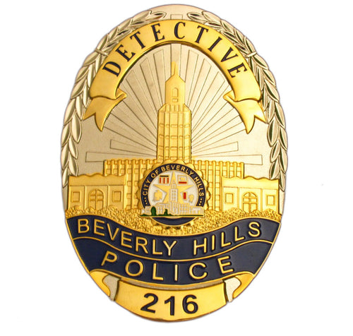 US Beverly Hills Detective Police Badge Replica Movie Props With No.216