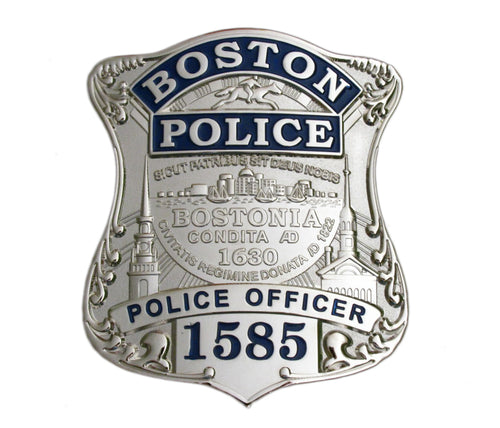 Boston Police Officer Badge Replica Movie Props With No.1585