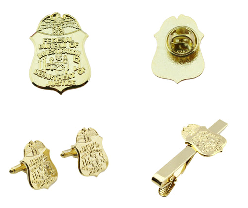 FBI Badge Lapel Pin/ Tie Clip/ Cufflinks