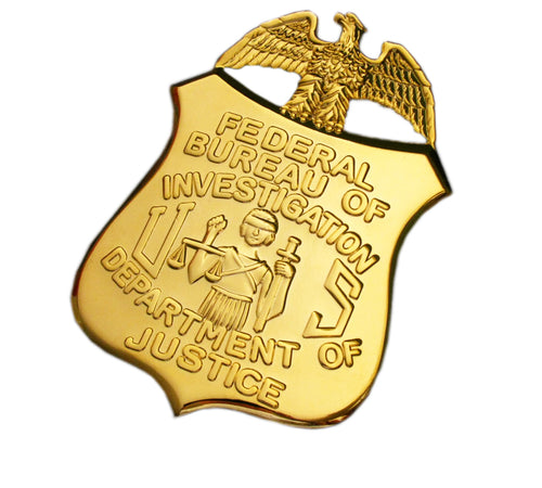 FBI Department Of Justice Badge Replica Movie Props