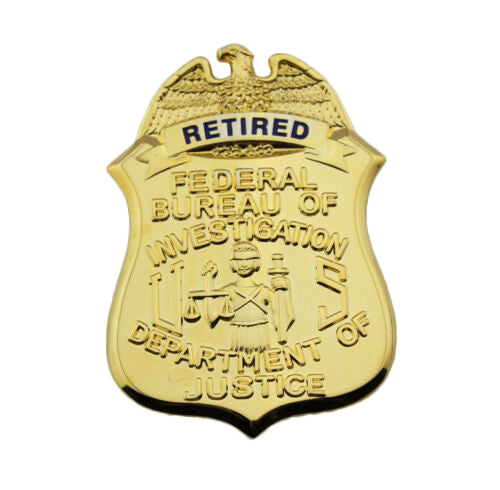FBI Department Of Justice Retired Clip-on Badge Replica Movie Props 38*55mm