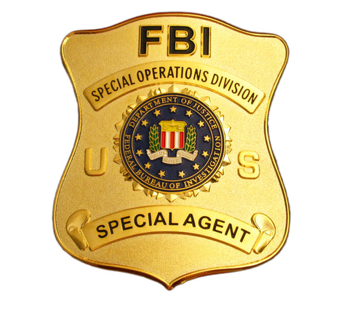 US FBI Special Operations Division Special Agent Badge Replica Movie Props