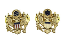 Load image into Gallery viewer, 2 Pcs US National Emblem Shoulder Lapel Pins Hat Cap Badges