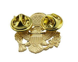 2 Pcs US National Emblem Shoulder Lapel Pins Hat Cap Badges