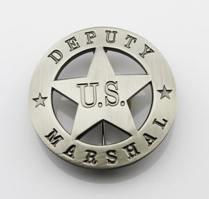 USMS US Marshal Deputy Badge Replica Movie Props