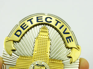 LAPD Los Angeles Police Detective Badge Replica Movie Props With No.2516