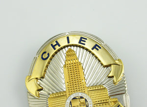 LAPD Chief Los Angeles Police Badge Replica Movie Props With Four Star