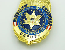 Load image into Gallery viewer, USMS US Marshal Service Deputy Badge Replica Movie Props