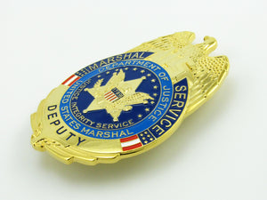 USMS US Marshal Service Deputy Badge Replica Movie Props