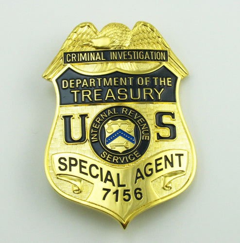US Department Of Treasury Criminal Investigation Special Agent Badge Replica Movie Props No.7156