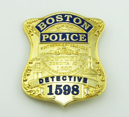Boston Detective Police Badge Replica Movie Props With No.1598