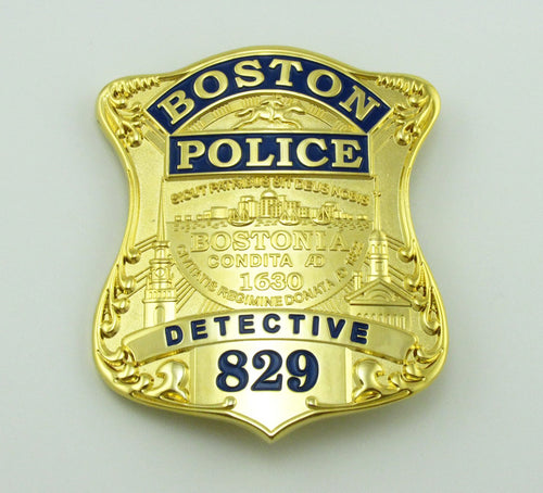 Boston Detective Police Badge Replica Movie Props With No.829