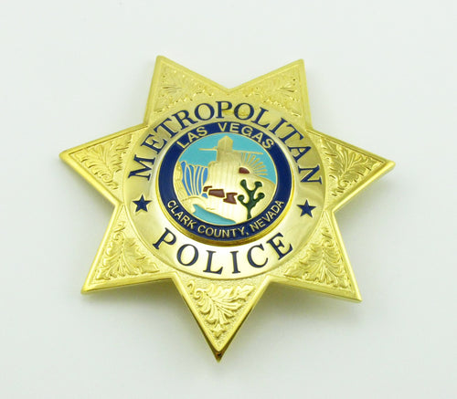 LVMPD Las Vegas Metropolitan Police Badge Replica Movie Props