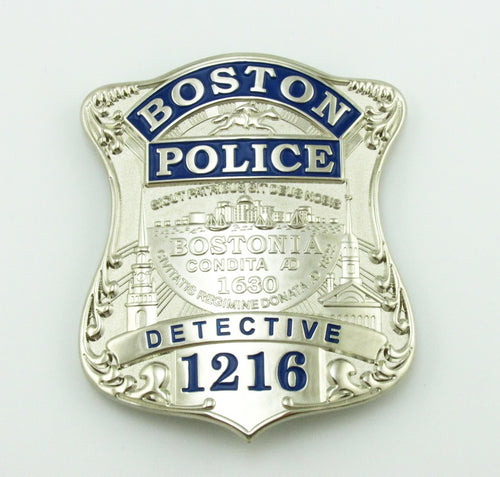 BPD Boston Detective Police Badge Replica Movie Props With No.1216