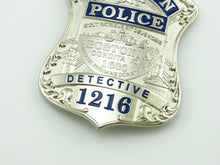 Load image into Gallery viewer, BPD Boston Detective Police Badge Replica Movie Props With No.1216