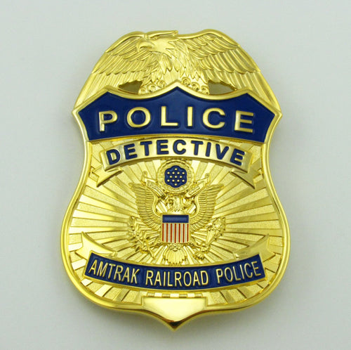 APD Amtrak Railroad Detective Police Badge Replica Movie Props