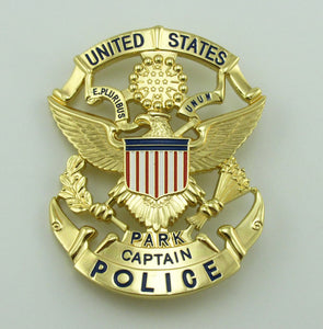 USPP United States Park Captain Police Badge Replica Movie Props