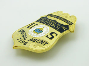 US Department Of Interpol Criminal Investigation Special Agent Badge Replica Movie Props No.7156