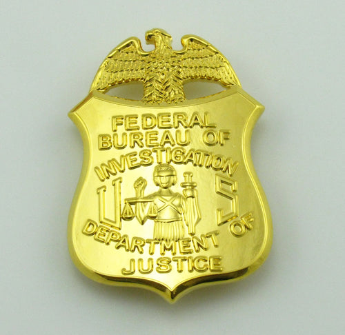 FBI Department Of Justice Clip-on Badge Replica Movie Props 38*55mm