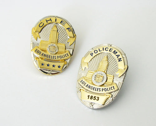 LAPD Los Angeles Police Badge Lapel Pin Mini Version (2 Optional Styles)