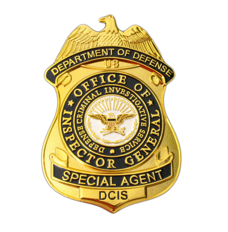 DCIS Special Agent Defense Criminal Investigation Service Badge Replica Movie Props
