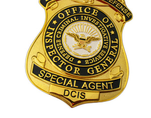DCIS Defense Criminal Investigation Service Special Agent Badge Replica Movie Props