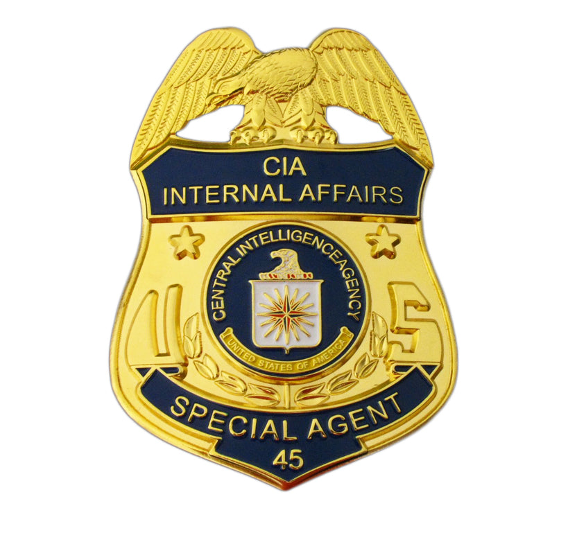 US CIA Internal Affairs Special Agent Badge Replica Movie Props With No.45