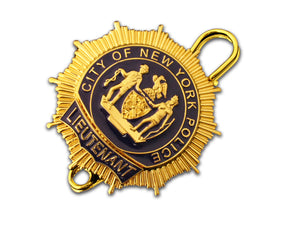 NYPD Lieutenant New York Police Badge Replica Movie Props