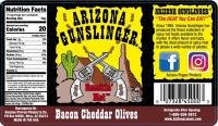 Arizona Gunslinger Bacon Cheddar Olives