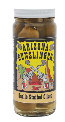Arizona Gunslinger Garlic Olives