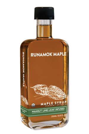 Makrut Lime Leaf Infused Maple Syrup