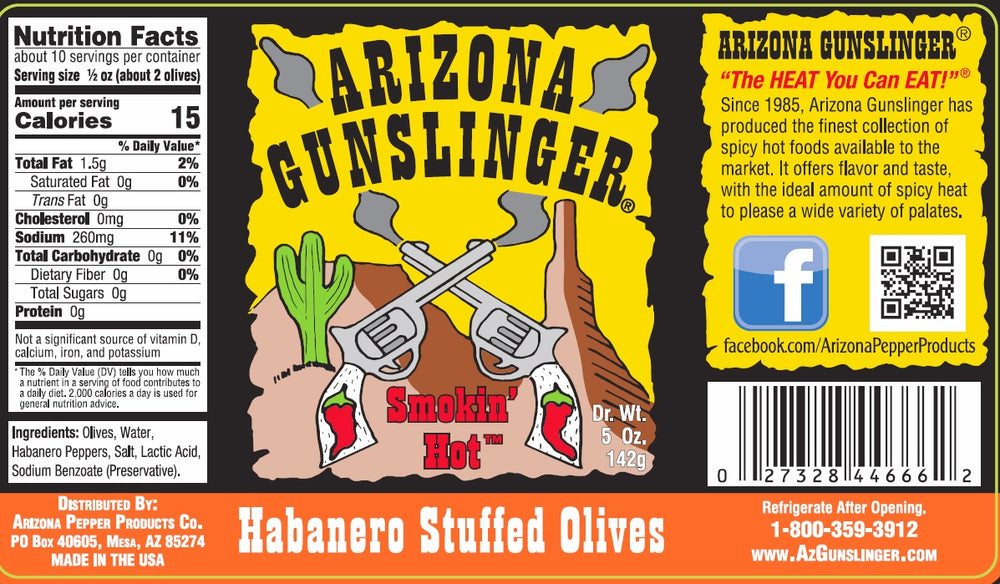 Arizona Gunslinger Habanero Stuffed Olives