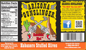 Load image into Gallery viewer, Arizona Gunslinger Habanero Stuffed Olives