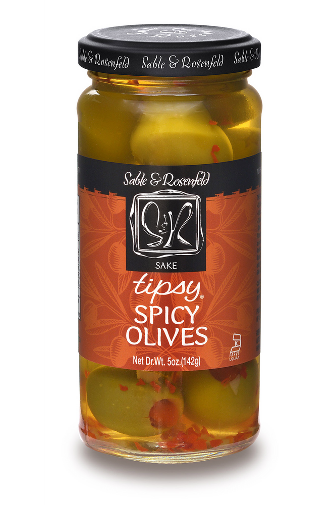 Load image into Gallery viewer, Tipsy Olives Sake Spicy