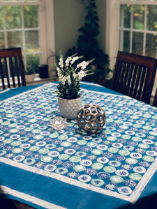 Indigo Floral Table Cloth