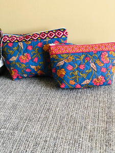 Blue Paisley Cosmetic Bag
