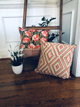 Load image into Gallery viewer, Orange Floral Cushion (Set of 2)