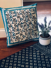 Load image into Gallery viewer, Teal Blue Garden Cushion Cover(Set of -2)