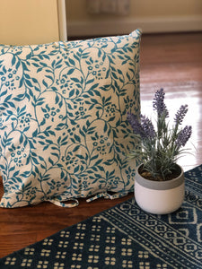 Teal Blue Garden Cushion Cover(Set of -2)