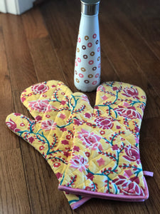 Lotus Oven Gloves (Set of 2)