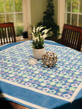 Load image into Gallery viewer, Indigo Floral Table Cloth