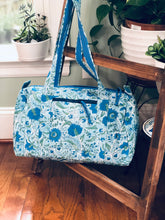 Load image into Gallery viewer, Aqua paisley Holdall bag