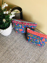 Load image into Gallery viewer, Blue Paisley Cosmetic Bag