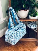 Load image into Gallery viewer, Blue Triangle Holdall bag