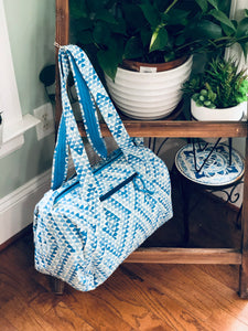 Blue Triangle Holdall bag