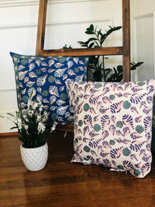 Indigo Shell Cushion( Set of 2)