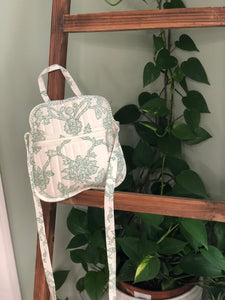 Crossbody in Mint flowers